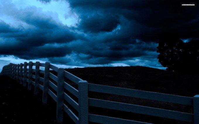 sky-cloud-fence-tree-field